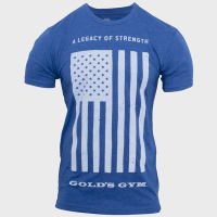 Camiseta Legacy of Strength Flag de Gold's Gym