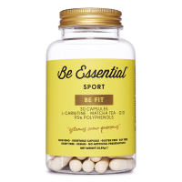 Be Fit envase de l-carnitina, te matcha, q10 del fabricante Be Essential (L-Carnitina)