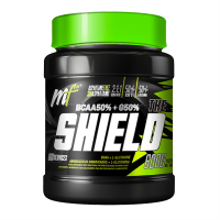 The Shield envase de 600g de la marca Menú Fitness (BCAA + Glutamina)