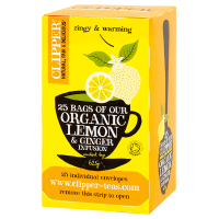 Organic lemon & ginger infusion - 25 sachets - Clipper