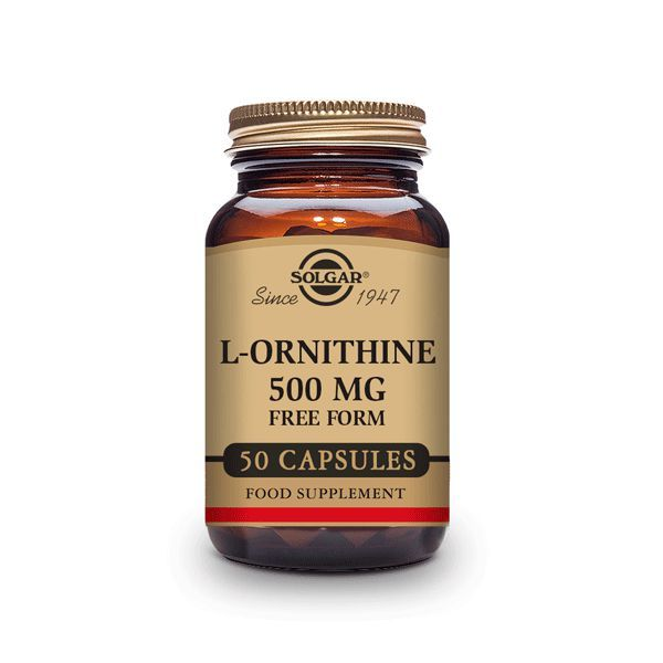 L-ornithine 500mg - 50 capsules