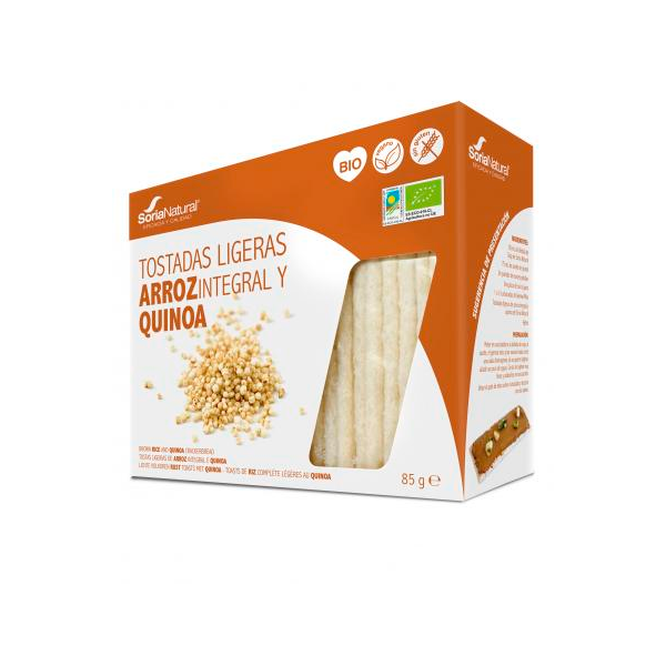 Bio light toasted brown rice and quinoa - 85g