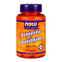 NOW Arginine / Ornithine - 100 capsules