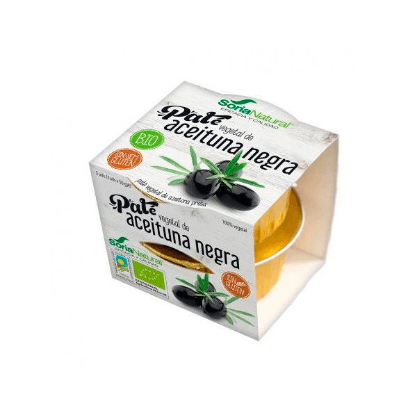 Black olives vegetable pate - 2 x 50g