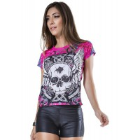Bluse wing bones pink - Kaufe Online bei MOREmuscle