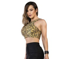Top mafia me croptop yellow
