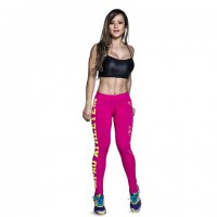 Leggins pro athlete white and purple