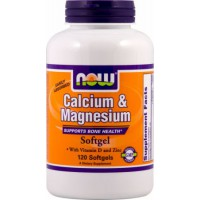 Calcio Magnesio + D - 120 softgels - Now Foods
