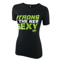 Womens T Shirt Crew Strong Sexy - MP SportsWear