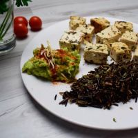 Organic tofu with rice nerone and avocado - ManaFoods ManaFoods - 1
