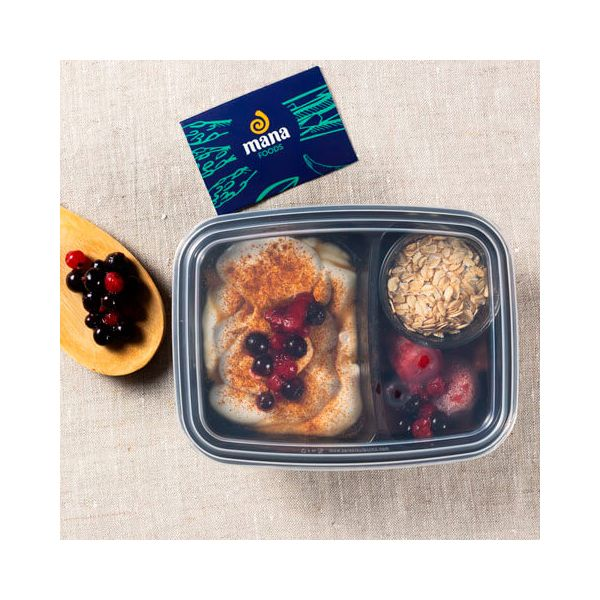 Greek yogurt with red fruits and oats - ManaFoods ManaFoods - 1