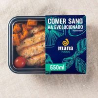 Chicken hamburger with sweet potato and tomatoes cherry ManaFoods - 1