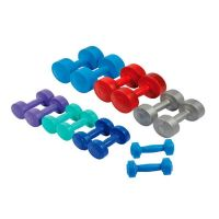 Pvc coated cement dumbbells - 1.5 kg Atipick - 1