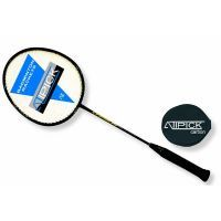Aluminum and carbon badminton racket