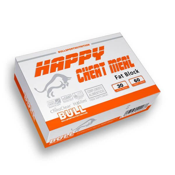 Happy Cheat Meal Fat Block de 60 cápsulas del fabricante Bull Sport Nutrition (Bloqueadores de Grasas)