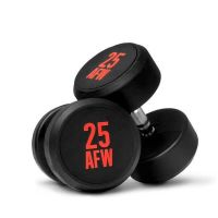 Dumbbells rubber ng - 25 kg AFW Strength - 1