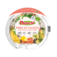 Salmon poke with soy sauce - 225g