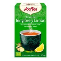 Green tea ginger and lemon - 17 sachets Yogi Organic - 1