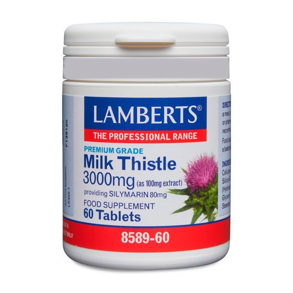 Milk thistle 3000mg - 60 tablets Lamberts - 1
