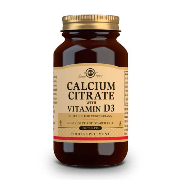 Calcium citrate with vitamin d3 - 240 tablets Solgar - 1