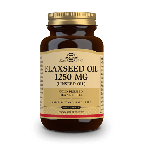 Flaxseed Oil 1250mg - 100 Softgels Solgar - 1