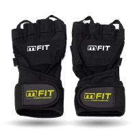 Gloves with wristband mm fit