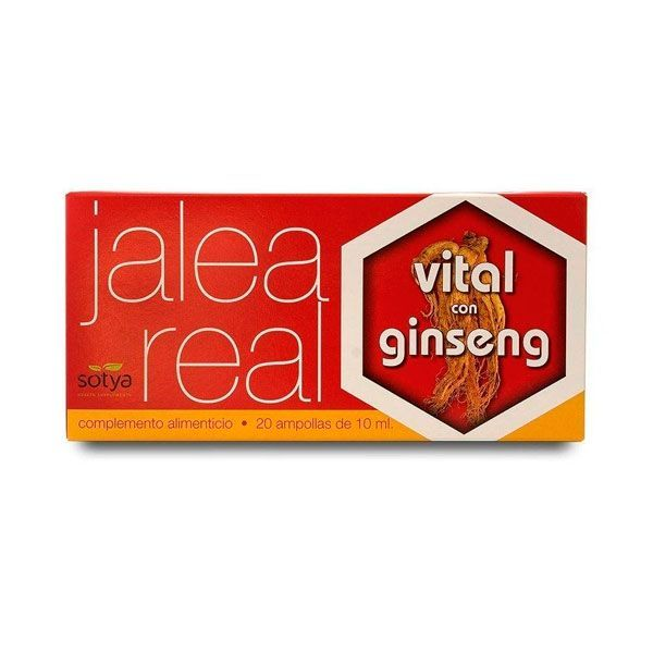 Royal jelly with ginseng - 20 vials Sotya Health Supplements - 1