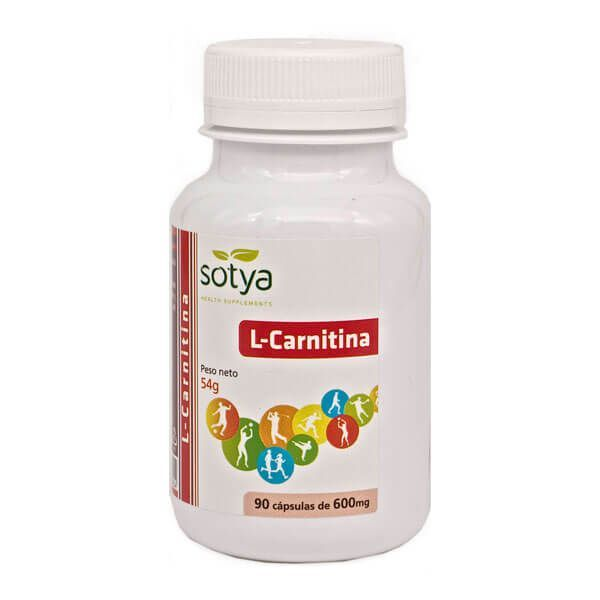 L-carnitine 600mg - 90 capsules Sotya Health Supplements - 1