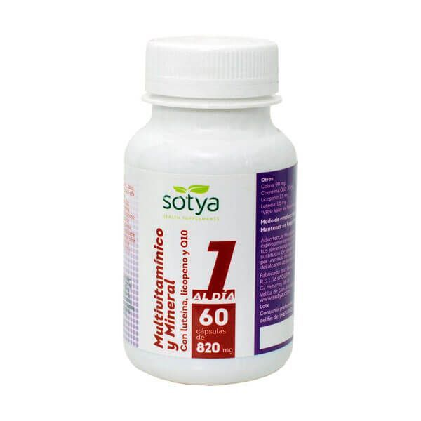 Multivitamin and mineral 820mg - 60 capsules Sotya Health Supplements - 1