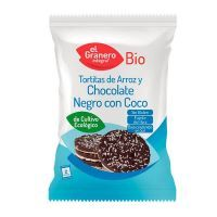 Rice pancakes with dark chocolate and organic coconut - 33g