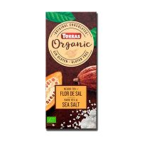 Dark chocolate 70% cocoa with organic salt flower - 100g