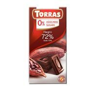 Dark chocolate 72% cocoa sugarfree - 75g