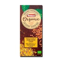 Organic dark chocolate with sesame and pollen - 100g