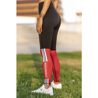Bar layered workout legging dark red/black