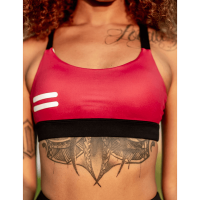 Bar layered workout bra Dark Red