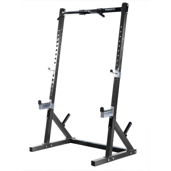 cage workbench half rack powertec other fitness. Black Bedroom Furniture Sets. Home Design Ideas