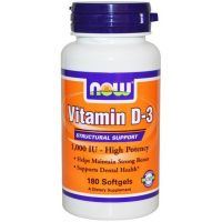 Vitamina D3 1000IU - 180 Softgels