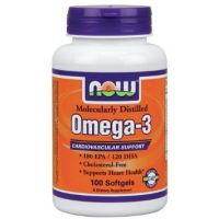 NOW Omega-3 1000 mg Cholesterol Free - 100 Softgels