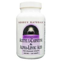 Acetil l-carnitina & ALA 50/150 mg - 30 cápsulas [Source Natural] - Source Naturals
