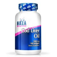 Cod liver oil 1000mg - 100 softgels - Haya Labs