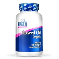 Flax seed oil organic 1000mg - 100 softgels - Haya Labs